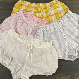 4 Victoria's Secret Sleep Shorts XS Good Cond